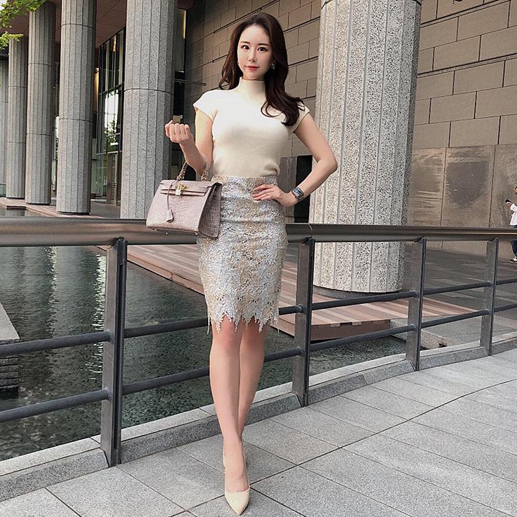 スパンコールスカート カラー:シルバー/ゴールド、シャンパンゴールド