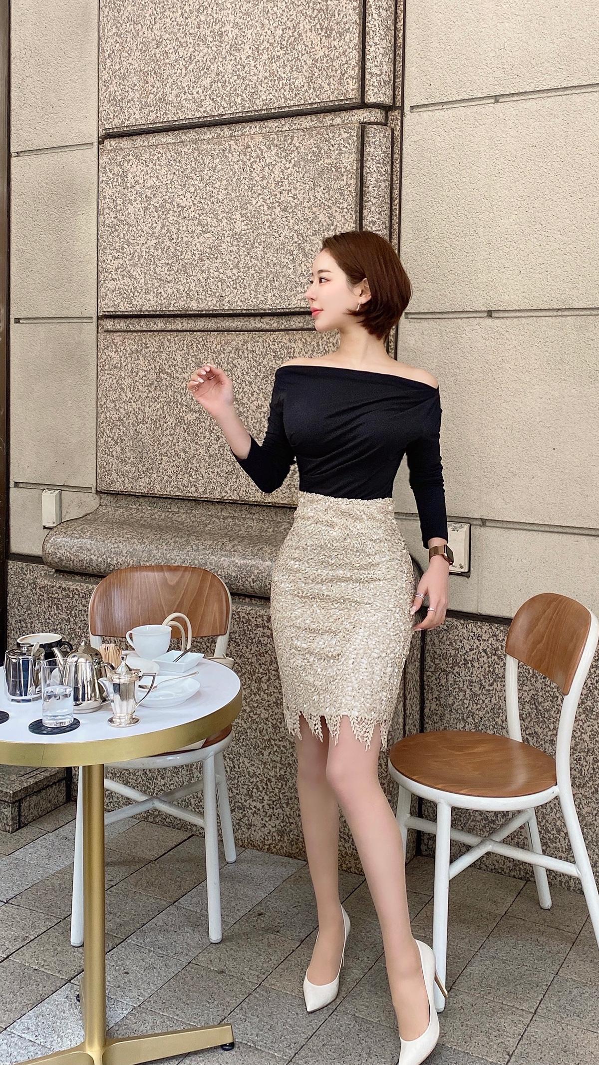 スパンコールスカート カラー:シルバー/ゴールド、シャンパン