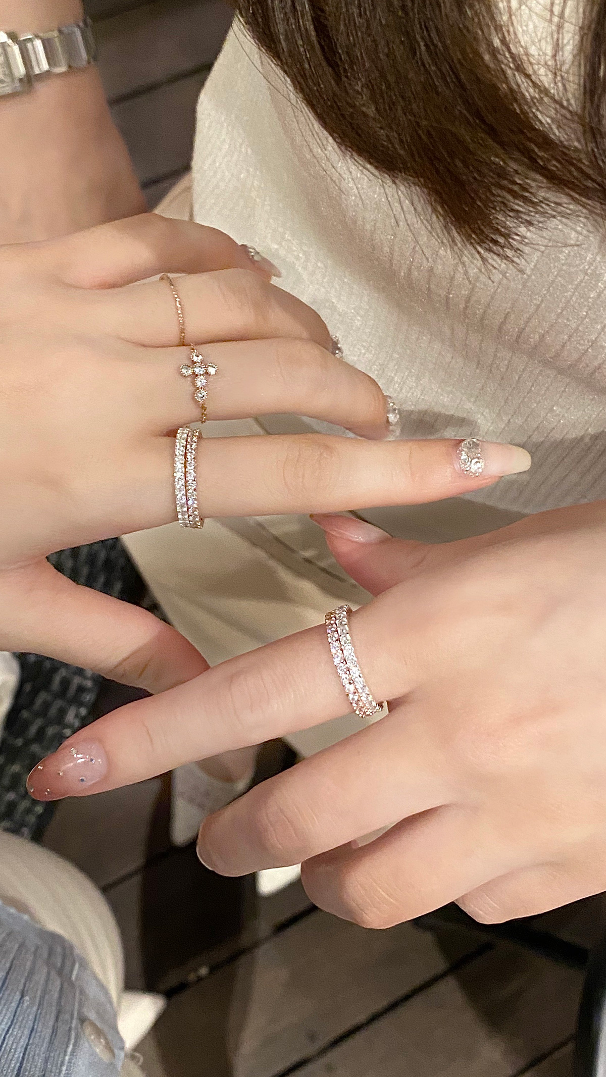eternity Queen ring(silver925) カラー:シルバー、ピンクゴールド